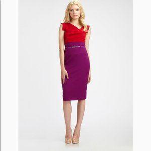 Black Halo Red and Magenta Jackie O Dress